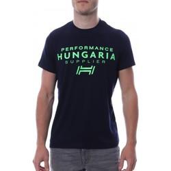 Textil Homem T-Shirt mangas curtas Hungaria  Azul