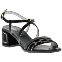 Sapatos Mulher Sandálias NeroGiardini NERO GIARDINI  100 VELOUR NERO Nero
