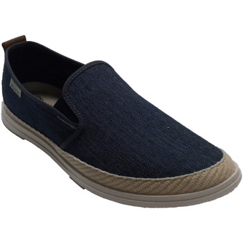 Sapatos Homem Chinelos Muro Sapatilha de lona de cânhamo para homem azul