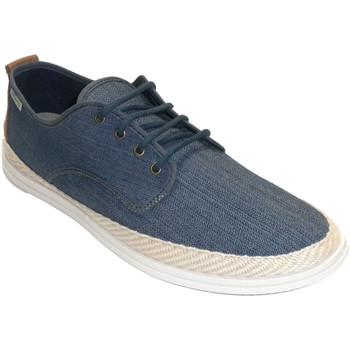 Sapatos Homem Chinelos Muro Sapatilha de lona de cânhamo com cordão azul
