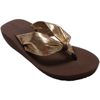 Sapatos Mulher Chinelos Gioseppo Chinelos praia piscina cunha dedo da mul oro