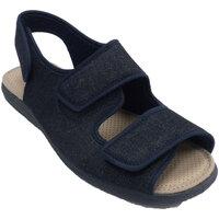 Sapatos Homem Chinelos Calzamur Chinelos abertos, com 3 pés delicados de azul