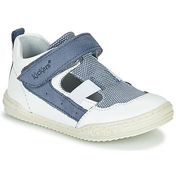 Sapatos Rapaz Sandálias Kickers JASON Branco / Azul
