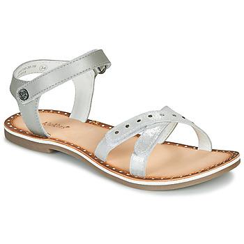 Sapatos Rapariga Sandálias Kickers DIDONC Prata
