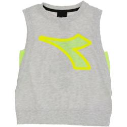 Textil Rapaz Tops sem mangas Diadora - T-shirt grigio 022785-107 GRIGIO