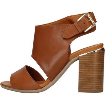 Sapatos Mulher Sapatos aquáticos Keys - Sandalo cuoio K-1981 MARRONE
