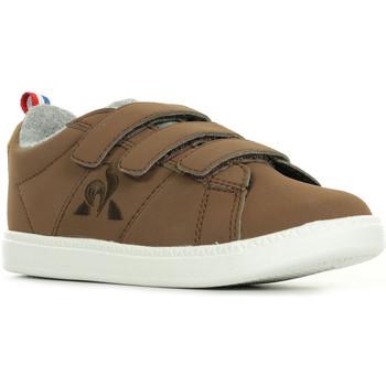 Sapatos Rapaz Sapatilhas Le Coq Sportif Courtclassic INF Hiver Castanho