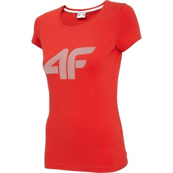 Textil Mulher T-Shirt mangas curtas 4F TSD005 Vermelho