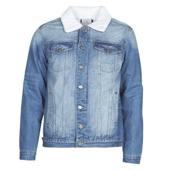 Textil Homem casacos de ganga Casual Attitude NOARO Azul