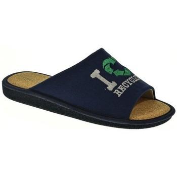 Sapatos Homem Chinelos Garzon 394 Azul