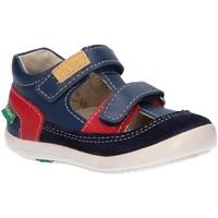 Sapatos Rapaz Sandálias Kickers 692390-10 KID Azul