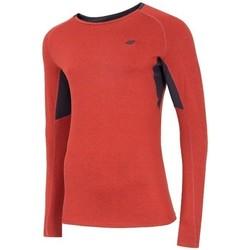 Textil Homem T-shirt mangas compridas 4F TSMLF002 Cor de laranja