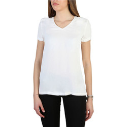 Textil Mulher T-Shirt mangas curtas Armani jeans - 3y5h43_5nyfz Branco