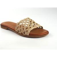 Sapatos Mulher Chinelos Csy Sandália de senhora CO & SO 5020 bege Branco
