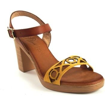 Sapatos Mulher Sandálias Csy Sandália de senhora CO & SO h050 mostarda Amarelo