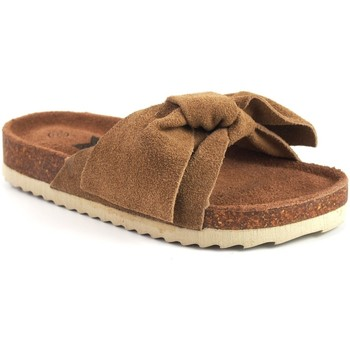 Sapatos Rapariga Chinelos Xti Sandália de menina em couro  56849 Marron