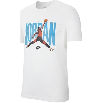 Textil Homem T-Shirt mangas curtas Nike Jordan Jumpman Photo Tee Branco, Azul