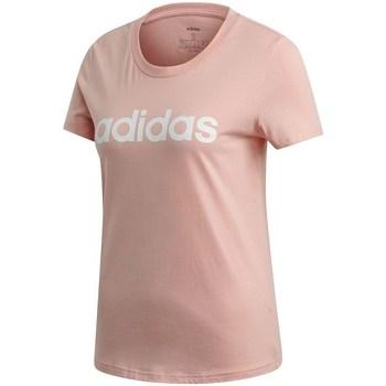 Textil Mulher T-Shirt mangas curtas adidas Originals W E Lin Slim T Cor-de-rosa