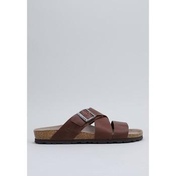 Sapatos Homem chinelos Senses & Shoes OLSEN Castanho