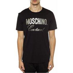 Textil Homem T-Shirt mangas curtas Moschino ZPA0715 Preto