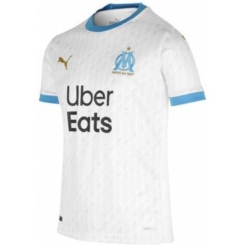 Textil Rapaz T-Shirt mangas curtas Puma Maillot domicile enfant OM 2020/21 blanc/bleu azur