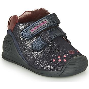 Sapatos Rapariga Sapatilhas Biomecanics BOTIN ELASTICO Marinho