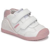 Sapatos Rapariga Sapatilhas Biomecanics BIOGATEO SPORT Branco / Rosa