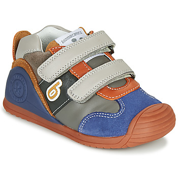 Sapatos Rapaz Sapatilhas Biomecanics ZAPATO SPORT VELCRO Cinza / Azul / Laranja