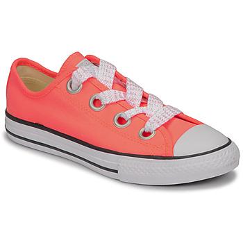 Sapatos Rapariga Sapatilhas Converse CTAS BIG EYELET OX LAVA GLOW/WHITE/BLACK Rosa