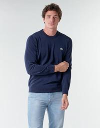 Textil Homem camisolas Lacoste AH1985 Marinho