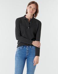 Textil Mulher Polos mangas compridas Lacoste PF5464 Preto