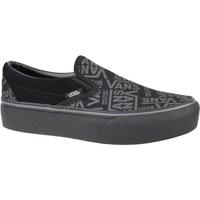 Sapatos Mulher Slip on Vans 66 Classic Slipon Platform Grafite,Cinzento