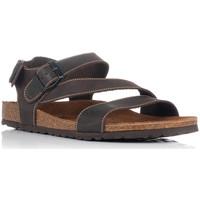 Sapatos Homem Sandálias Interbios 9557 Castanho