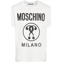 Textil Homem T-Shirt mangas curtas Moschino ZPA0706 Branco