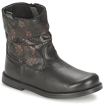 Sapatos Rapariga Botas Citrouille et Compagnie JOUGRI Preto