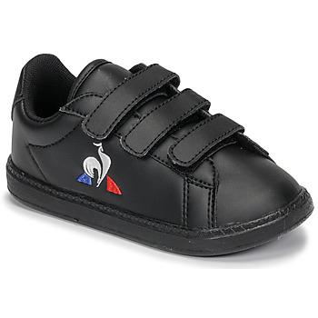 Sapatos Criança Sapatilhas Le Coq Sportif COURTSET INF Preto