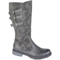 Sapatos Mulher Botas Cipriata  Cinza