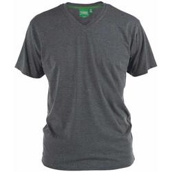 Textil Homem T-Shirt mangas curtas Duke Signature-2 Melange Carvão Vegetal