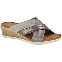Sapatos Mulher Chinelos Cipriata  Estanho/Prata/Bronze