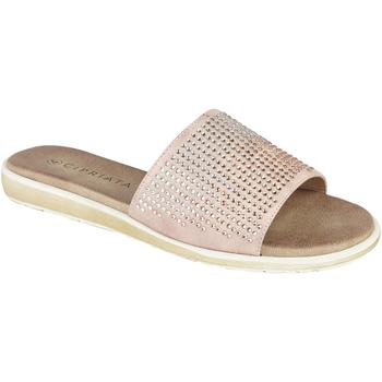 Sapatos Mulher Chinelos Cipriata  Ouro rosa