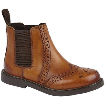Sapatos Rapaz Botas baixas Roamers  Tan