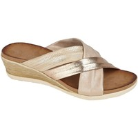 Sapatos Mulher Chinelos Cipriata  Champagne/Rose Gold/Gold