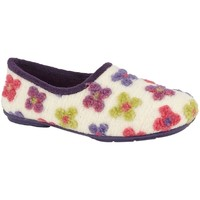 Sapatos Mulher Chinelos Sleepers  Creme/Multicolorido