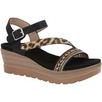 Sapatos Mulher Sandálias Cipriata  Preto/leopardo Impressão