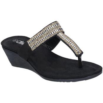Sapatos Mulher Chinelos Divaz  Preto