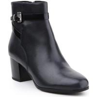 Sapatos Mulher Botas baixas Geox D Petalus D642ZC-043BC-C4002 black