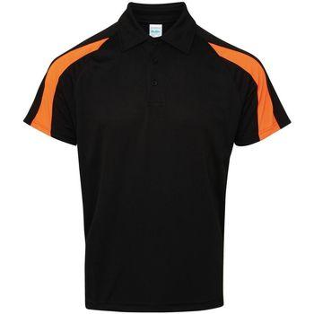 Textil Homem Polos mangas curta Awdis JC043 Jet Black/Electric Orange