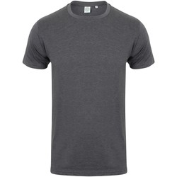 Textil Homem T-Shirt mangas curtas Skinni Fit SF121 Heather Charcoal