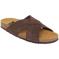 Sapatos Homem Chinelos Morxiva Shoes Sandalia de hombre de piel by Pepe Agullo Marron