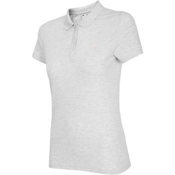 Textil Mulher T-Shirt mangas curtas 4F NOSH4 TSD007 Biały Melanż Branco, Cinzento